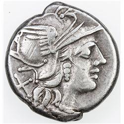 ROMAN REPUBLIC: C. Renius, 138 BC, AR denarius (3.82g). VF