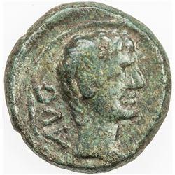 ROMAN EMPIRE: Augustus, 27 BC-14 AD, AE20 (Semis), Philippi, Macedonia. VF