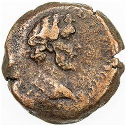 ROMAN EMPIRE: Antoninus Pius, 138-161 AD, AE obol (9.48g), Alexandria mint, Egypt. F-VF