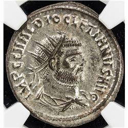 ROMAN EMPIRE: Diocletian, 284-305 AD, BI antoninianus (3.66g), Cyzicus (293-294). NGC MS