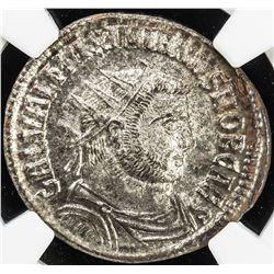 ROMAN EMPIRE: Galerius, as caesar, 293-305, BI antoniinianus (4.50g), Ticinum (293-294). NGC MS