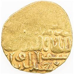 BURJI MAMLUK: Barquq, 1382-1389 & 1390-1399, AV dinar (8.57g), Dimashq, DM