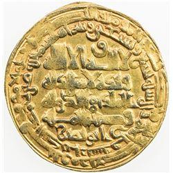 BUWAYHID: Baha' al-Dawla, 989-1012, AV dinar (4.38g), Suq al-Ahwaz, AH399. VF-EF