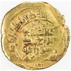 GREAT SELJUQ: Sanjar, 1118-1157, AV dinar (4.89g), Nishapur, DM, fine gold, VF