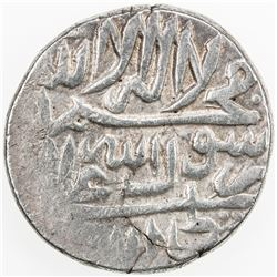 AFSHARID: Ibrahim, 1748, AR rupi (11.42g), Rasht, AH1161. VF-EF