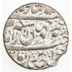 ZAND: Karim Khan, 1753-1779, AR double abbasi, Shiraz, AH1186. EF