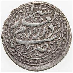 ZAND: Karim Khan, 1753-1779, AR abbasi, Shiraz, AH1175. VF-EF