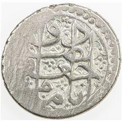 ZAND: Ja'far Khan, 1785-1789, AR rupi (11.39g), Shiraz, AH1201. VF-EF