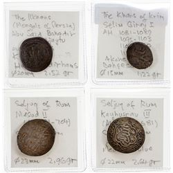 MEDIEVAL ISLAMIC: LOT of 4 silver coins