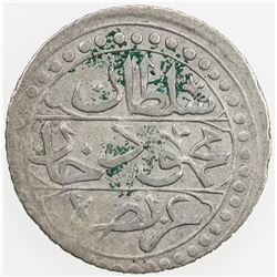ALGIERS: Mahmud II, 1808-1839, AR 1/4 budju, Jaza'ir, AH1237. VF-EF