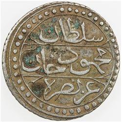 ALGIERS: Mahmud II, 1808-1839, AR 1/4 budju, Jaza'ir, AH1239. VF