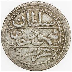 ALGIERS: Mahmud II, 1808-1839, AR 1/4 budju, Jaza'ir, AH1245. VF-EF
