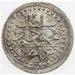 ALGIERS: Mahmud II, 1808-1839, AR 1/8 budju, Jaza'ir, AH1237. EF