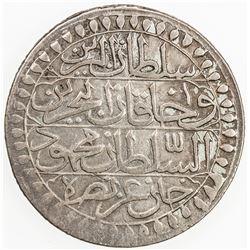 ALGIERS: Mahmud II, 1808-1839, AR 2 budju (19.17g), Jaza'ir, AH1237. VF