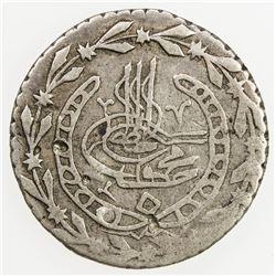 ALGIERS: Mahmud II, 1808-1839, AR 1/6 budju, Jaza'ir, AH1245. F-VF