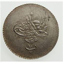 EGYPT: Abdul Mejid, 1839-1861, AR 10 para, AH1255 year 12. UNC