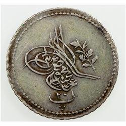EGYPT: Abdul Mejid, 1839-1861, AR 20 para, AH1255 year 6. VF