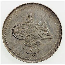 EGYPT: Abdul Aziz, 1861-1876, AR 20 para, AH1277 year 4. EF-AU
