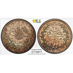 EGYPT: Abdul Hamid II, 1876-1909, AR qirsh, Misr, AH1293 year 27. PCGS MS67