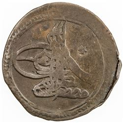 SYRIA: Mustafa III, 1757-1773, AE 5 para (1.75g), Halab, AH1171. F