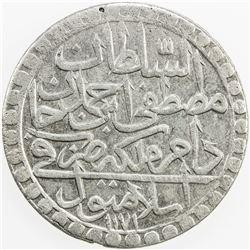 TURKEY: Mustafa III, 1757-1774, AR 2 zolota, AH1171 year 7. EF