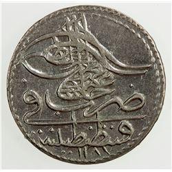 TURKEY: Abdul Hamid I, 1774-1789, BI 5 para, AH 1187 year 6. AU