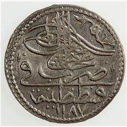 TURKEY: Abdul Hamid I, 1774-1789, BI 5 para, AH 1187 year 13. AU