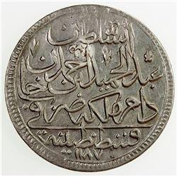 TURKEY: Abdul Hamid I, 1774-1789, BI zolota, AH 1187 year 1. EF-AU