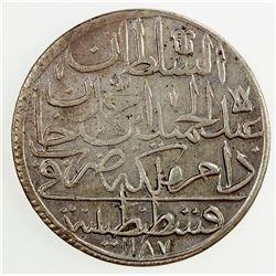 TURKEY: Abdul Hamid I, 1774-1789, AR zolota, AH1187 year 8. EF