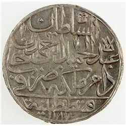 TURKEY: Abdul Hamid I, 1774-1789, AR zolota, AH1187 year 11. AU