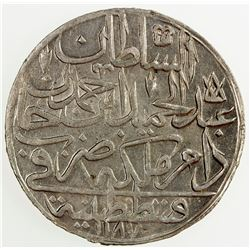 TURKEY: Abdul Hamid I, 1774-1789, AR zolota, AH1187 year 11. AU
