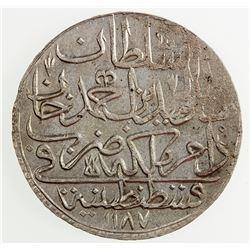 TURKEY: Abdul Hamid I, 1774-1789, AR zolota, AH1187 year 13. AU