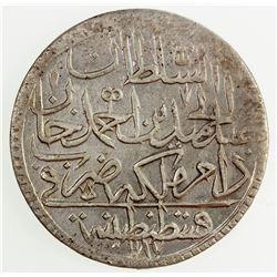 TURKEY: Abdul Hamid I, 1774-1789, AR zolota, AH1187 year 14. AU