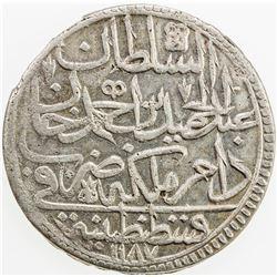TURKEY: Abdul Hamid I, 1774-1789, AR zolota, AH1187 year 15. EF