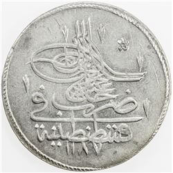 TURKEY: Abdul Hamid I, 1774-1789, AR piastre, AH1187 year 4. AU