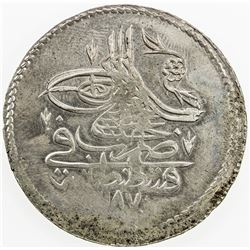 TURKEY: Abdul Hamid I, 1774-1789, AR piastre, AH1187 year 10. AU