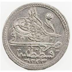 TURKEY: Mahmud II, 1808-1839, BI 5 para, AH 1223 year 5. AU