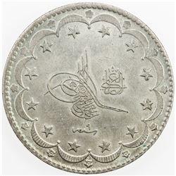 TURKEY: Muhammad V, 1909-1918, AR 20 kurush, AH1327 year 9. AU
