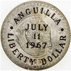 ANGUILLA: AR liberty dollar, 1967. UNC