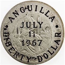 ANGUILLA: AR liberty dollar, 1967. AU
