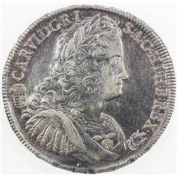 AUSTRIA: Karl VI, 1711-1740, AR thaler, Kremnitz, 1739-KB. EF-AU