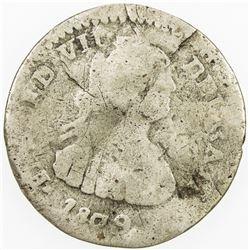 COLOMBIA: Fernando VII, 1808-1822, AR real (1.92g), 1809-NR