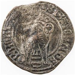 DENMARK: Christian II, 1513-1523, AR skilling, Malmo mint, ND. F