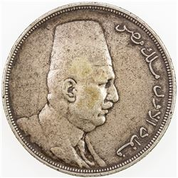 EGYPT: Fuad I, 1922-1936, AR 20 qirsh, 1923-H/AH1341. VF
