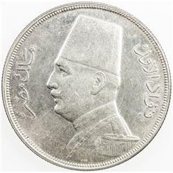 EGYPT: Fuad I, 1922-1936, AR 5 qirsh, 1933/AH1352. AU