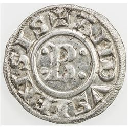 FRANCE (MEDIEVAL): ANDUSE AND SAUVE: Bernard II, 1145-1164, AR denier (0.91g), c. 1150-1160. EF-AU