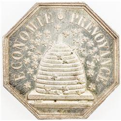 FRANCE: AR jeton (10.16g), 1835 (after 1852). UNC