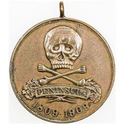 GERMANY: BRUNSWICK-WOLFENBUTTEL: AE medal (16.39g), 1909. EF