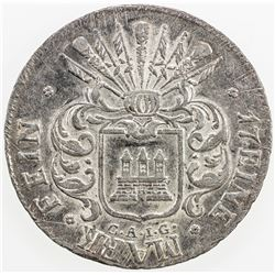 GERMANY: HAMBURG: AR 32 schilling, 1809. EF