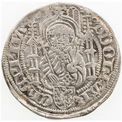 GERMANY: MAINZ: Adolph II, 1461-1475, AR weisspfennig (groschen) (1.91g), Mainz. VF-EF